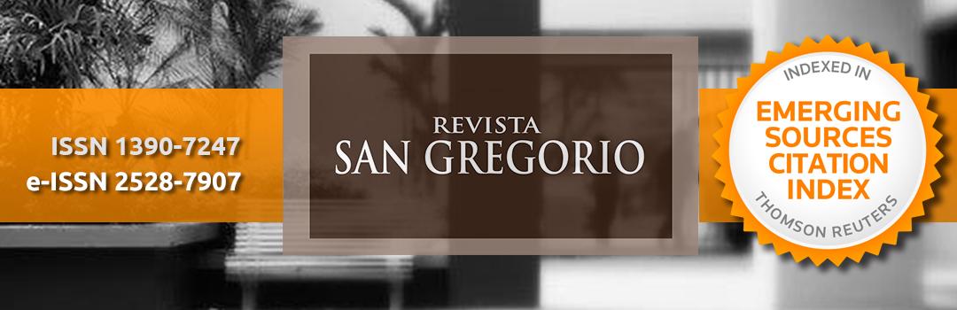 Revista San Gregorio. ISSN: 1390-7247; eISSN: 2528-7907